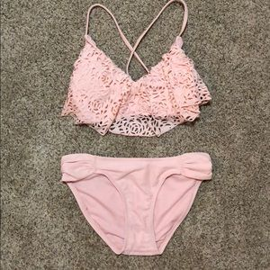 Baby pink bikini!